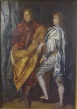 Artist unknown European school Portrait of Two Boys, oil on canvas, unsigned, 67 x 46.5 cm approx.