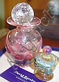 Pair of contemporary glass perfume bottles
