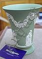 Wedgwood green jasper vase