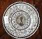 Queen Victorian coronation glass dish circa 1837,