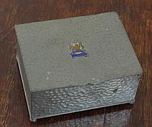 Small pewter cigarette box