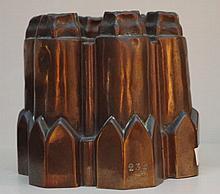 19th Century English copper jelly mold