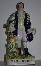 Staffordshire figure of Robbie Burns as found