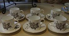 Six Royal Worcester coffee cans & saucers