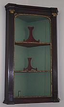 Georgian corner cabinet with gilded decoration, pa
