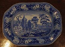 Staffordshire transfer ware small platter, British