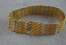 18ct three tone gold fancy gate link bracelet