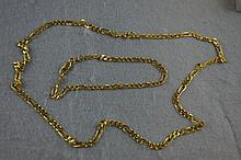 18ct yellow gold figaro link necklace & bracelet