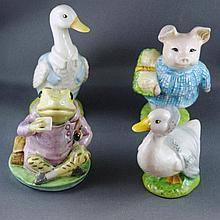 Four various Beatrix Potter figurines Royal Albert