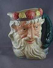 Royal Doulton 'Neptune' character jug D6548, 19cm