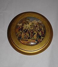 Antique Pratt Ware pot lid