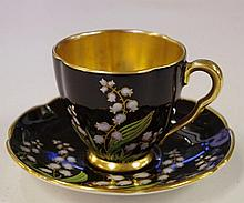 Rare Carltonware coffee cup & saucer decorated