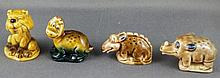 Four miniature Wade Flintstones figurines 3.8cm