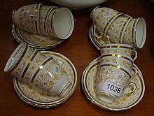 Twelve New Chelsea coffee cups & saucers