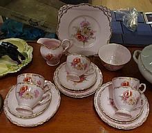 Tuscan part tea set comprising of cake plate, milk