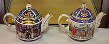 Two Sadler novelty teapots
