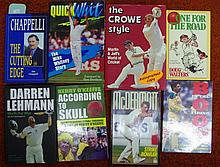 Eight signed cricket books, Ian Chappell, Graig