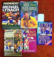 Five signed rugby books, Ray Price, Des Hasler,