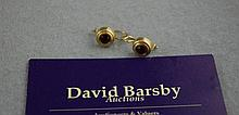 9ct yellow gold stone set earrings approx 3.0