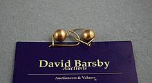 9ct yellow gold ball earrings approx 2.8 grams
