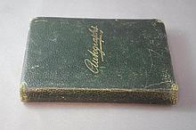 Antique autograph book