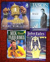 Four signed rugby books Nick Farr-Jones, John