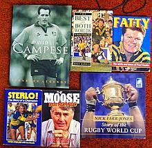 Signed Rugby Books, R Mossop, David Campese, P