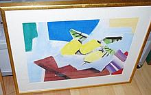 Cubist watercolour image approx 45 by 63 cm