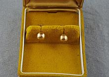 9ct yellow gold ball earrings suitable for pierced