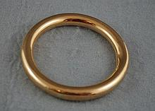 9ct rose gold bangle Approx 23.7 grams