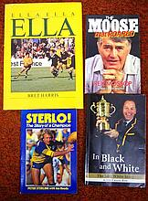 Four signed rugby books, Peter Sterling, Rex