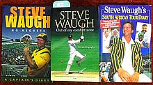 Three signed Steve Waugh books