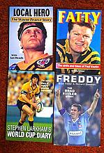 Four signed rugby books, Wayne Pearce, Fatty,