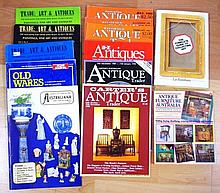 Two reference books and journals, Antique