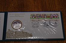 Sterling silver medal set commemorative envelope