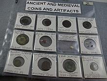 Various medieval & ancient coins and artifacts