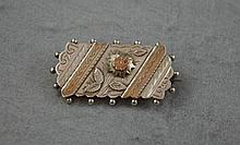 Victorian silver/silver gilt brooch hallmaked