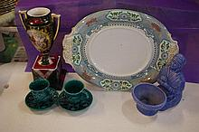 Antique Copeland & Sons platter & other items