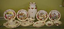 Royal Albert vase, dishes, cabinets plates, etc