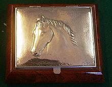 Italian made silver lidded box with Horse's head