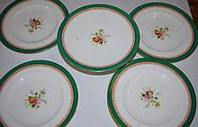 Part Victorian hand painted dessert service