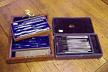 Vintage boxed drawing set together with a boxed