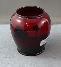 Royal Doulton Flambe vase depicting a camel &
