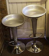 Two swivel breakfast bar stools