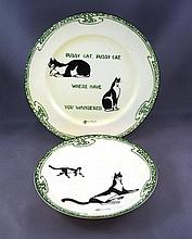 Royal Doulton Souter Cats saucer and plate