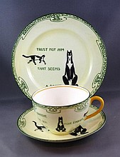 Royal Doulton Souter Cats series trio Chip to