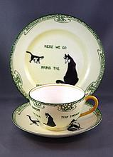 Royal Doulton Souter Cats series trio David Henry