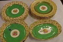 Fifteen piece Crescent china dessert service