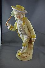 Bisque figurine Measures 30 centimetres high.