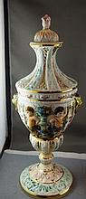Capodimonte Urn approx 35cm in height, lid as